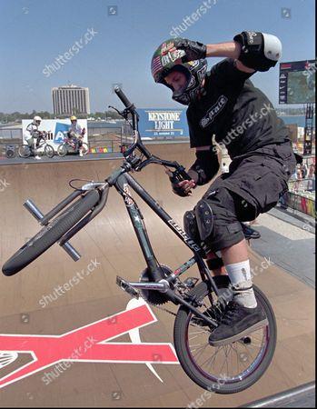 MATT HOFFMAN Matt Hoffman, of Oklahoma City, practices prior to the Men's Bike Vert finals, in San Diego, at the X-Games. The bike vert finals are the last competition at the 1997 X-Games