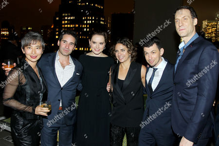Stock Picture of Sharon Chang, Marc H. Simon, Daisy Ridley, Stacey Reiss, Jeremy Chilnick, Pierre Takal (Film Editor)