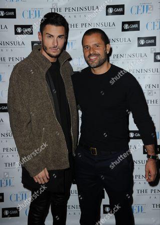 Baptiste Giabiconi and Mariano Vivanco