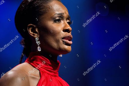 Three-time WNBA Champion Swin Cash, one of seven honorees of the National Civil Rights Museum's 25th Freedom Award, explains her perspective on the role of women in the ongoing fight for social justice as she accepts her award, in Memphis, Tenn