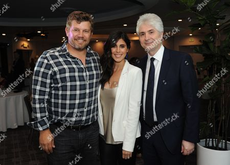 Stock Image of From left, Chef Ben Ford, Jamie-Lynn Sigler and Dr. Hart Cohen participated at the Reimagine MySelf? event hosted by Biogen, in Los Angeles