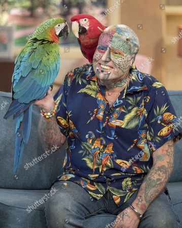 Stock Picture of Ted Parrot Man Richards