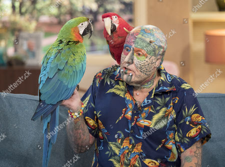 Stock Photo of Ted Parrot Man Richards