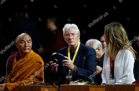 Richard Gere Actor Richard Gere, center, attends a meeting with the Dalai Lama Tenzin Gyatso at Milan's Fiera di Rho, . The Dalai Lama received honorary citizenship from the city of Milan