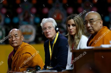 Richard Gere Actor Richard Gere, second from left, attends a meeting with the Dalai Lama Tenzin Gyatso at Milan's Fiera di Rho, . The Dalai Lama received honorary citizenship from the city of Milan