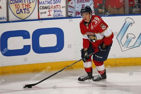 Shane Harper Florida Panthers right wing Shane Harper (38) skates with the puck prior to an NHL hockey game against the Washington Capitals, in Sunrise, Fla. The Capitals defeated the Panthers 4-2