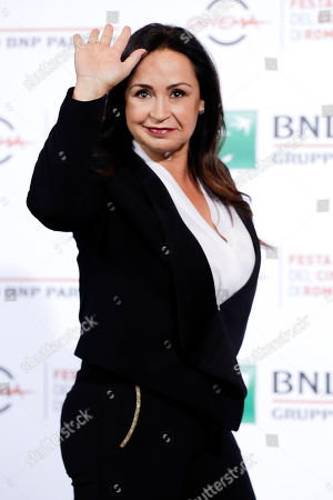 """Maria Nazionale poses for photographers during the photo call of the movie """"7 minuti"""", Seven Minutes, at the Rome Film Festival, in Rome"""