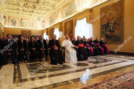 Pope Francis, Cardinal Stanislaw Rylko and Cardinal Stanislaw Dziwisz