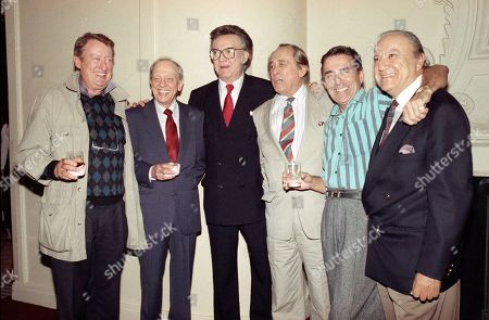 Editorial image of Actor Steve Allen and cast members, Beverly Hills, USA