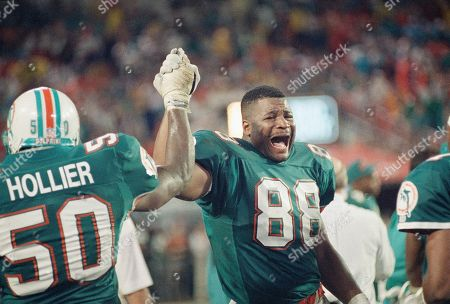 Editorial picture of AFC Playoffs Dolphins Chargers 1993, Miami, USA