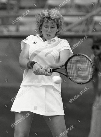 Andrea Jaeger Andrea Jaeger playing against Kathy Jordan in U.S. Open Tennis in New York on