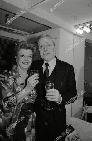 """Angela Lansbury, John McMartin Angela Lansbury and John McMartin toast the opening of """"A Little Family Business"""" backstage at the Martin Beck Theatre on West 45St. in New York"""
