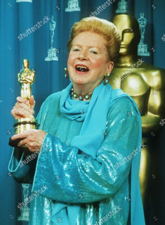 Hollywood legend Deborah Kerr holds her Oscar, which was presented to her as an Honorary Award at the 66th Annual Academy Awards in Los Angeles