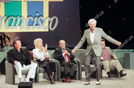 Editorial photo of Buddy Ebsen shows off his famous shuffling dance, San Francisco, USA