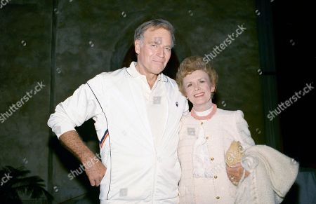 Charlton Heston, Lydia Heston Charlton Heston with his wife Lydia in Los Angeles on