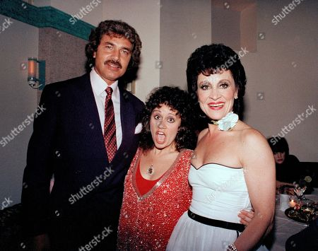 """From left to right: singer Engelbert Humperdinck, Lisa Mordente, and her mother actress Chita Rivera are shown at a party Liza Minnelli hosted for Rivera to congratulate her on her Tony Award for """"The Rink,"""" at Gotham restaurant in New York"""