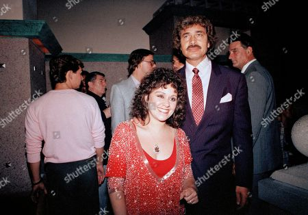 """Lisa Mordente, daughter of actress Chita Rivera, and singer Engelbert Humperdinck are shown during a party hosted by Liza Minnelli at a New York restaurant in Rivera's honor after she won a Tony for """"The Rink,"""" June 9"""