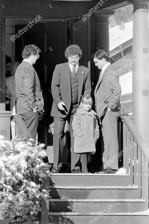 Caroline McAuliffe Christa McAuliffe?s daughter Caroline, 6, accompanied by two unidentified men, leaves her Concord, New Hampshire, home on the way, to a private funeral mass at a nearby church. Her mother was a crewmember aboard the ill-fated space shuttle Challenger