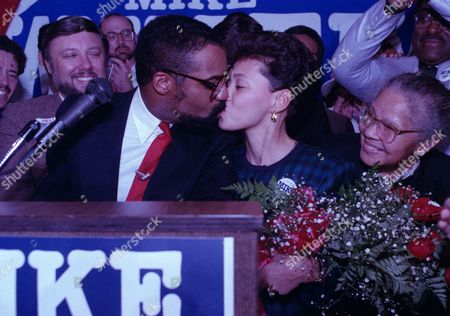 Stock Picture of Michael White, Mike White, Tamara White Mike White, left, kisses his wife, Tamara, during his victory celebration in Cleveland after being elected mayor, . White defeated George Forbes to succeed Mayor George Voinovich who is running for Ohio governor