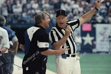 Jimmy Johnson Dallas Cowboys coach Jimmy Johnson argues with back judge Jim Poole during the fourth quarter of their game with the San Francisco 49ers on in Irving, Texas. Dallas won 27-17