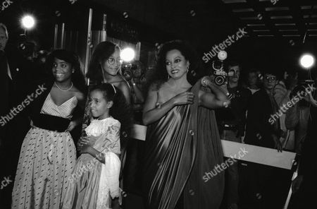 Editorial picture of Diana Ross and daughters, New York, USA
