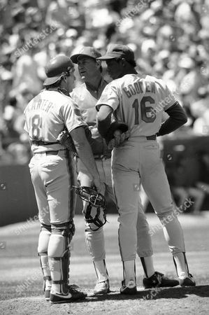 Dwight Gooden, Mel Stottlemyre New York Mets pitcher Dwight Gooden, right, talks with Mets pitching coach Mel Stottlemyre, center, and catcher Gary Carter during the fifth inning of game with the San Francisco Giants in San Francisco, . Gooden was pulled from the game later in the inning after giving up six runs. The Giants won the game 10-2