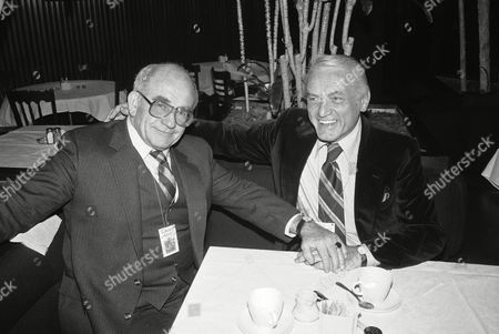 Ed Asner, Ted Knight Actors Ed Asner, left, and Ted Knight pose for photographers at the American Charcuterie restaurant in New York City, before attending the ?Night of 100 Stars? at New York?s Radio City Music Hall. The performance, in which nearly 200 stars will attend, is a benefit for the Actors Fund of America