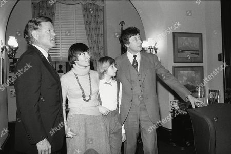 Sen. Edward Kennedy, D-Mass., left, gives a tour of his Capitol Hill office to Edward Lozansky, right, his wife Tetyana Lozansky, second to left, and daughter Tanya Lozansky, Washington, D.C