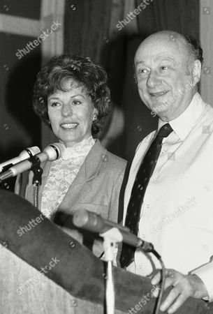 New York City Mayor Edward Koch, right, announced on at New York City Hall the appointment of Bess Myerson, left, former city consumer affairs commissioner, as the new commissioner of the Department of Cultural Affairs for New York City. Miss Myerson replaces Henry Geldzahler, who resigned the post