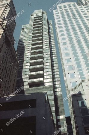 Conor Clapton, the five-year-old son of rock guitarist Eric Clapton, was killed after he apparently fell out of a 53rd floor window of this apartment building on New York's East 57th Street, shown . The boy's mother, Italian television star Lory del Santo, and a housekeeper were in the apartment when he fell, according to police