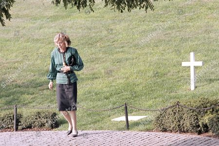 Eunice Kennedy Shriver Eunice Kennedy Shriver walks away from her brother Robert Kennedy's grave, after a visit at Arlington National Cemetery, in Arlington, Va. Mrs. Shriver, wife of Sargent Shriver, the first Peace Corps director, attended a ceremony at the cemetery commemorating the 25th anniversary of the Peace Corps
