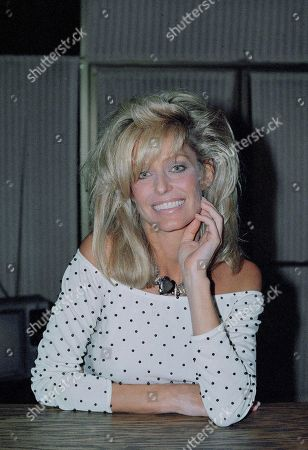 Stock Photo of Farrah Fawcett-Majors, portraits-various moods and expressions with hair in and away from eyes, shown on