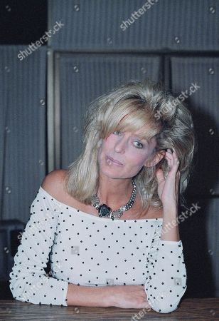 Stock Picture of Farrah Fawcett-Majors, portraits-various moods and expressions with hair in and away from eyes, shown on
