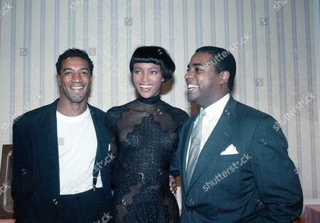 Henderson Campbell Banks British fashion model Naomi Campbell is shown with fashion designers Gordon Henderson, left, and Jeffrey Banks, right, before the showing of Fall fashions from collections of 13 black fashion designers at the New York Hilton Hotel on . The new couture is showcased at the 14th annual National Association of Black Journalists Convention