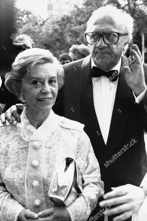 Italian director Federico Fellini is escorted by his wife Giulietta Masina as he arrives for an evening that will honor his contribution to the movie art on at Tavern in the Green in New York. The event was organized by the Film society of Lincoln Center