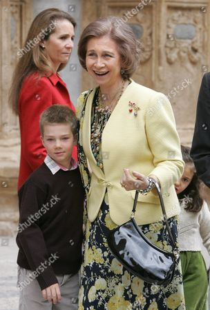 Editorial picture of Spanish Royalty attending  Easter Mass, Majorca Cathedral, Palma, Majorca, Spain - 08 Apr 2007