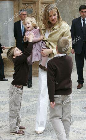 Princess Cristina and daughter Irene with Princes Prince Pablo Nicolas and Juan Valentin