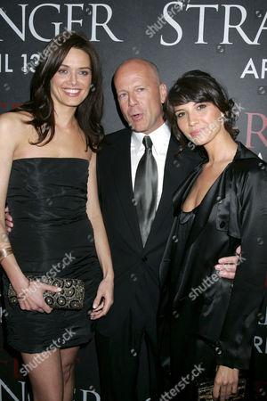 Daniella Van Graas, Bruce Willis and Tamara Feldman