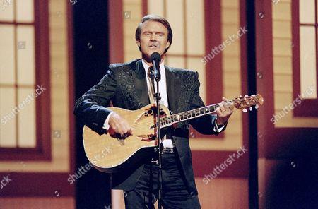 Glen Campbell Singer Glen Campbell in Nashville, Tennessee on