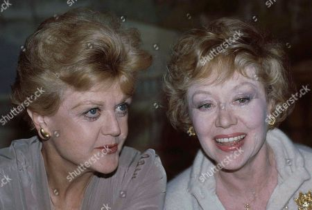 Actresses Angela Lansbury, left, and Glynis Johns are shown together