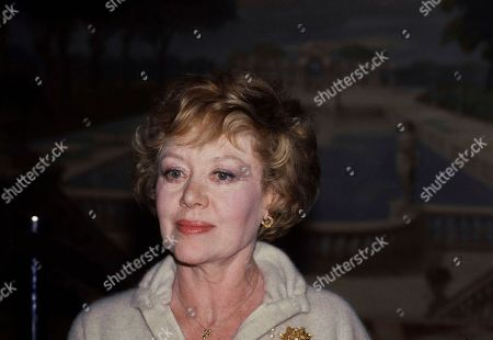 Actress Glynis Johns is shown