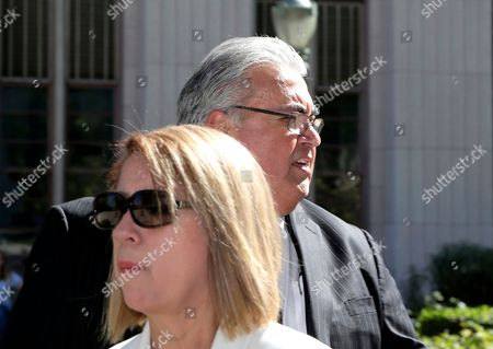"""Ron Calderon, Ana Calderon Former state Sen. Ron Calderon and his wife Ana leave federal court in Los Angeles after his sentencing on bribery charges in . Calderon was sentenced to 3½ years in prison in a corruption scandal in which he acknowledged taking bribes in exchange for his influence in Sacramento. U.S. District Court Judge Christina Snyder imposed the sentence after listening to Calderon emotionally ask to remain under house arrest or """"at least get me home to my family sooner"""