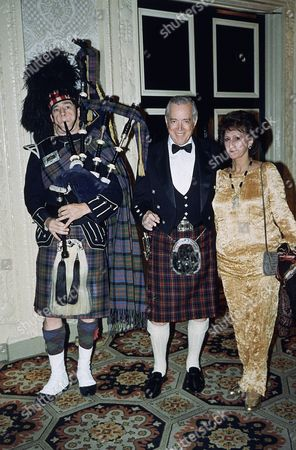 Hugh Downs Television personality Hugh Downs, center, of the Cameron Clan, is joined by his wife Ruth and piper Charlie Kron in New York, at the Scottish Ball 1987. The gala, sponsored by the American-Scottish Foundation, is meant to foster stronger ties between the two countries