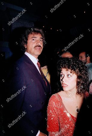Singer Engelbert Humperdinck, left, and Lisa Mordente, daughter of actress Chita Rivera, are shown at a party hosted by Liza Minnelli in Rivera's honor, in New York