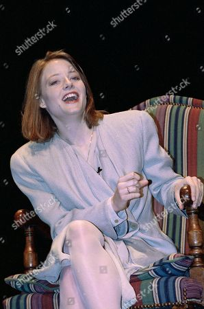 Academy Award-Winning actress Jodie Foster answers questions from the audience at UCLA in the Westwood section of Los Angeles after she received the Spencer Tracy Award in recognition of her outstanding screen performance and professional achievement. AP Photo/Julie Markes