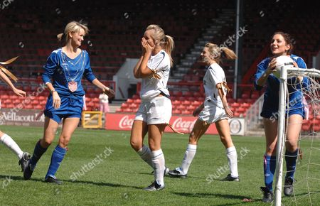 Krystell Sidwell (Steve Sidwell wife), Charlotte Mears, (Jermain Defoe girlfriend), Heather Swan (Michael Chopra girlfriend) and Madeleine Bowden (Justin Hoyte girlfriend)