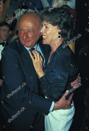 New York Mayor Edward Koch poses with Bess Myerson