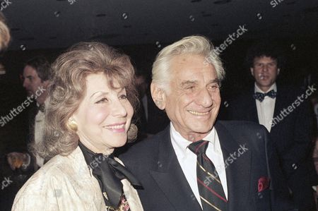 Leonard Bernstein, Betty Comden Leonard Bernstein arriving with Betty Comden for special tribute to the late actor, Spencer Tracy in New York City