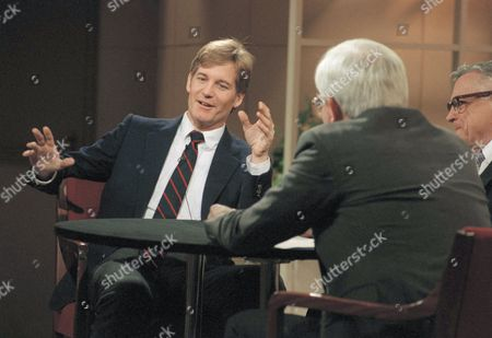 """Marc Christian Marc Christian, former lover of the late actor Rock Hudson, speaks during an appearance on NBC's """"Donahue"""" show in New York on . Host Phil Donahue is at right"""