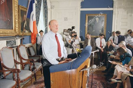 Mayor Edward Koch speaks to reporters at City Hall in New York, about the federal grand jury indictment of former city cultural affairs commissioner Bess Myerson. Myerson, a friend of the mayor, was named in conspiracy, mail fraud and bribery-related charges